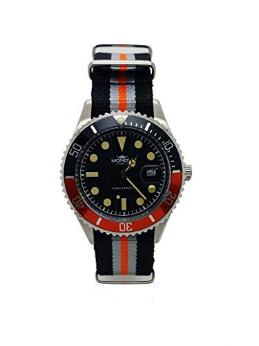MONDIA Mistral Zifferblatt schwarz und Armband technischer Orange und Schwarz