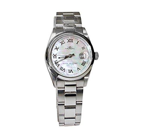 MONDIA Uhr aus Edelstahl mit Zifferblatt in Perlmutt und contagiorni