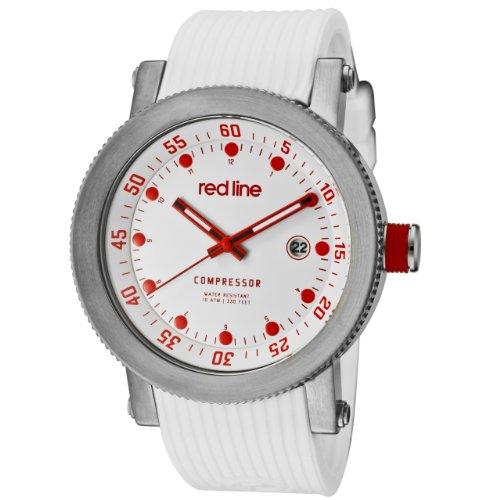 Red Line rl 18000 02rd wht st Armbanduhr Quarz Analog Armband Gummi weiss