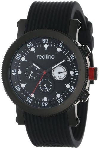 Red Line rl 18101 01 bb Herrenuhr Quarz Chronograph Armband Gummi schwarz