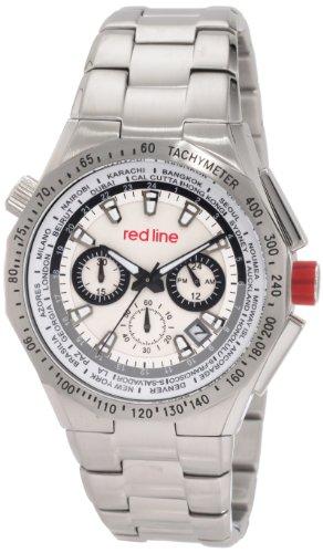 Red Line rl 50014 22S Herrenuhr Quarz Chronograph Zaehler Geschwindigkeit Armband Edelstahl Metallic