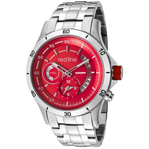 Red Line rl 50020 55 Herrenuhr Quarz Analog Edelstahl grau