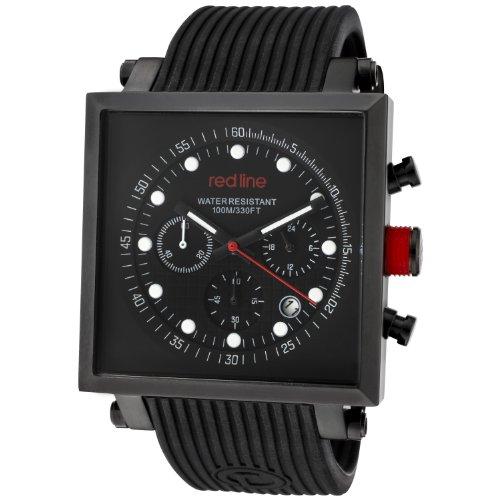 Red Line rl 50036 bb 01 Zeigt Herren Quartz Chronograph Armband Gummi schwarz