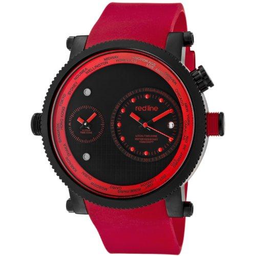 Red Line rl 50037 bb 01 rd Zeigt Herren Quartz Chronograph Armband Gummi rot