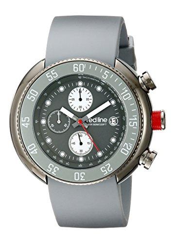 Red Line rl 50038 gm 014 gy Zeigt Herren Quartz Chronograph Armband Gummi grau