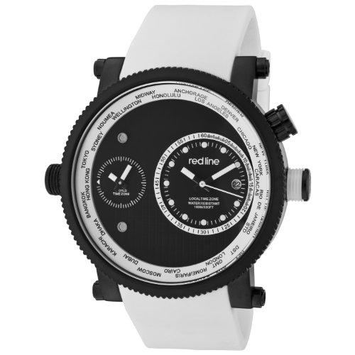Red Line Specialist Herren Armbanduhr 48mm Quarz Datum Analog 50037 BB 01 WHT