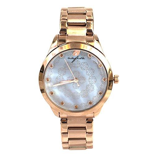 Nafisa Frauen Fashion Zifferblatt Rose Gold Edelstahl Armbanduhr NA 0042