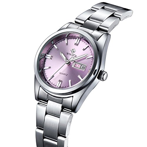 erinnert an Fashion Frauen Edelstahl Armbanduhr Damen Casual Armbanduhr weiblich Quarz Handgelenk Uhren Pink