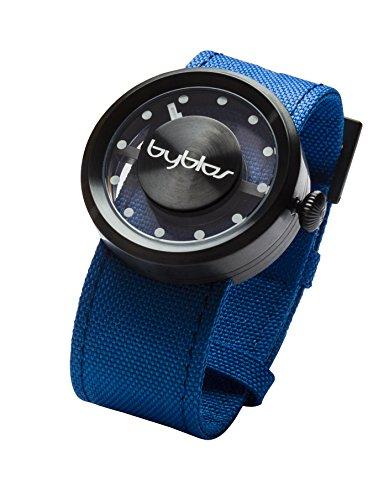 Byblos schwarz klein Glamour analoge Uhr 36 mm Durchmesser mit 7 Austauschbare Farbe Bands