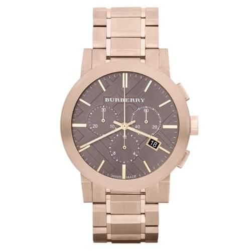 BURBERRY Herren-Armbanduhr Analog edelstahl Gold BU9353