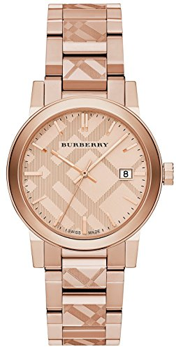 Burberry Rose goldfarbene Zifferblatt Edelstahl Quarz bu9039