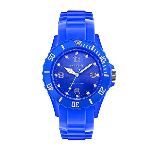 Zeigt Damen mit Swarovski Kristallen Silikon Blau 21