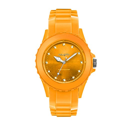 Zeigt Frau und Kristallen Swarovski Silikon Orange 39
