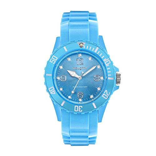 Zeigt Damen mit Swarovski Kristallen Silikon Blau himmelblau 22