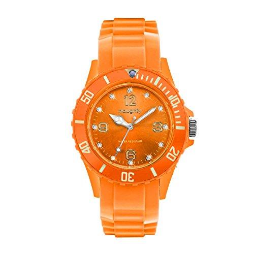 Zeigt Damen mit Swarovski Kristallen Silikon Orange 27