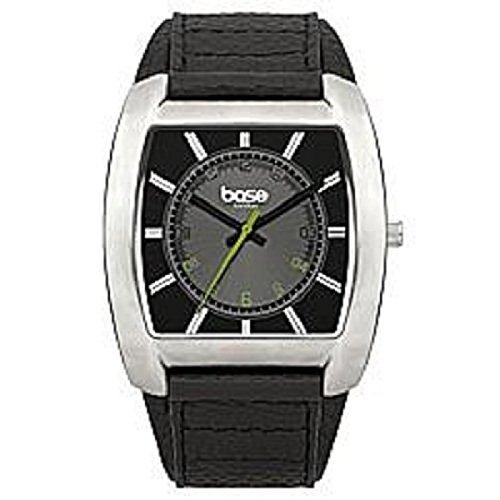BASE LONDON HE Ana Armb Uhr schw Ziffernbl Lederarmband DQ90 03BL
