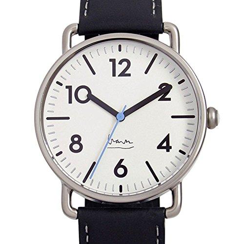 Project 7105W Herren Edelstahl Lederband Weiss Zifferblatt Witherspoon Michael Graves Aqua Watch