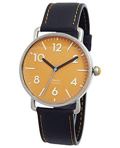 Project 71020 Herren Edelstahl Schwarz Lederband Braun Zifferblatt Witherspoon Michael Graves Uhr