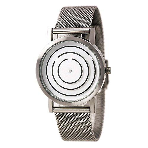 Project 8901s Damen Silber Mesh Armband Band Silber Zifferblatt Edelstahl Uhr