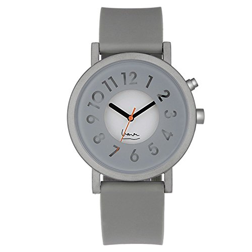 Projekte 6006 G Unisex Grau Silikon Band Grau Zifferblatt Smart Watch