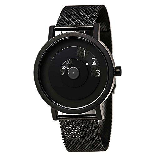 Projekte 7203bm 40 Herren Reveal Classic schwarz Zifferblatt schwarz IP Stahl Mesh Armband Armbanduhr