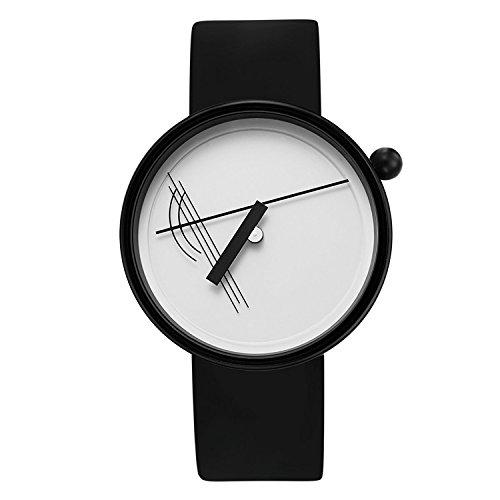 Projekte 7217 W bs Herren Schwarz Silikon Band Weiss Zifferblatt Smart Watch