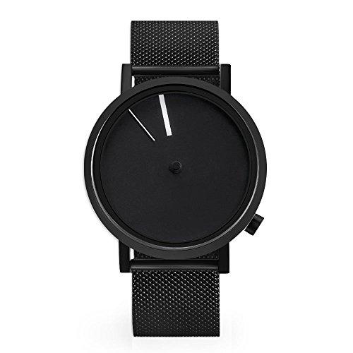 Projekte 7295bss Herren Edelstahl schwarz Silikon Band Schwarz Zifferblatt Smart Watch