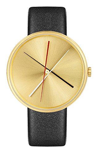 Projekte 7292bl L Unisex Crossover Messing Gold Zifferblatt braun Leder Armbanduhr