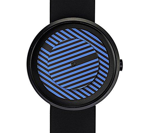 Projekte 7299bb Herren Edelstahl schwarz Silikon Band Bicolor Zifferblatt Smart Watch