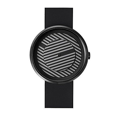 Projekte 7299bs Herren Edelstahl schwarz Silikon Band Bicolor Zifferblatt Smart Watch