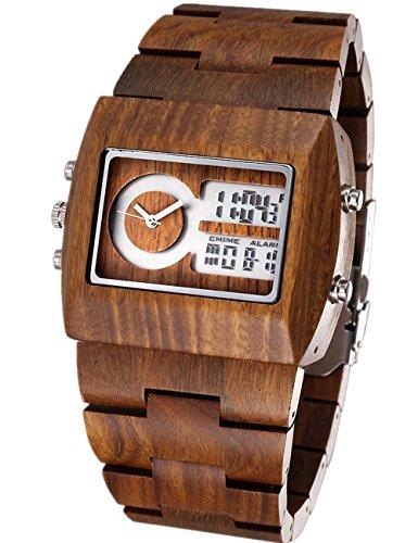stylisch handgefertigt Holz Uhren mit 100 natuerlichem Sandelholz
