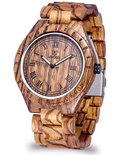 Kuehl Umweltfreundlich Handgefertigt mit 100 Natural Sandelholz Armbanduhr Quarzuhr