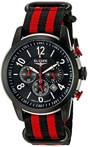 ELYSEE Herren Chronograph schwarzrot 80524