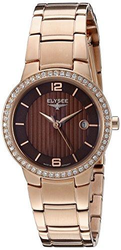 Armbanduhr fuer Damen Nora von Elysee mit Marken Quarzuhrwerk Analoge mit Datumsanzeige rosegold