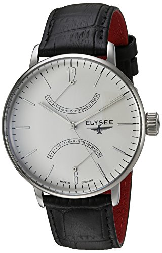 elysee 13270 Armbanduhr Herren Lederband schwarz