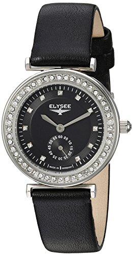 ELYSEE Damenuhr schwarz silber 44006