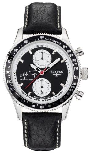 Elysee Herren Armbanduhr XL Graf Berghe von Trips AnalogAutomatik Leder 80509