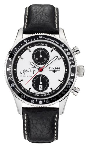 Elysee Herren Armbanduhr XL Graf Berghe von Trips AnalogAutomatik Leder 80508