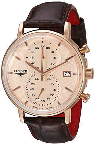 ELYSEE Herren Chronograph braun rosegoldfarben 83821