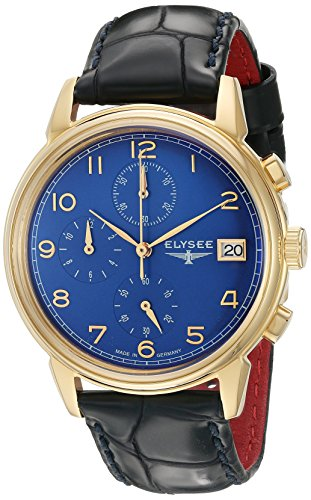 ELYSEE Herren Chronograph blau goldfarben 80552