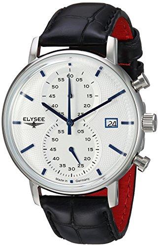 ELYSEE Herren Chronograph schwarz silber 83820