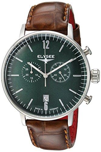 ELYSEE Herren Chronograph gruen silber 13296