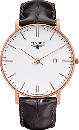 ELYSEE Herrenuhr braun rosegoldfarben weiss 98004