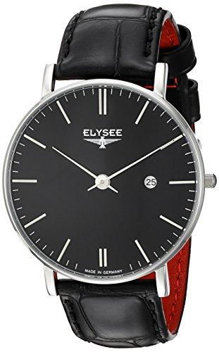 ELYSEE Herrenuhr schwarz silber 98001
