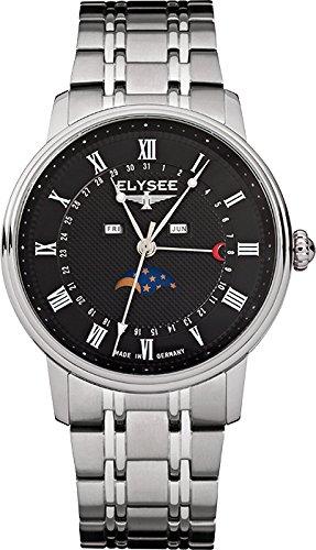 ELYSEE Herrenuhr silber schwarz 77003