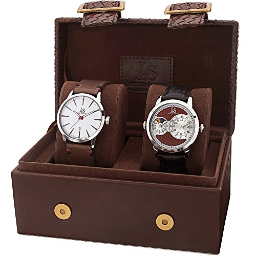 Joshua Sons Herren Armbanduhr MenS Watch Gift Set Analog Quarz JX114BR