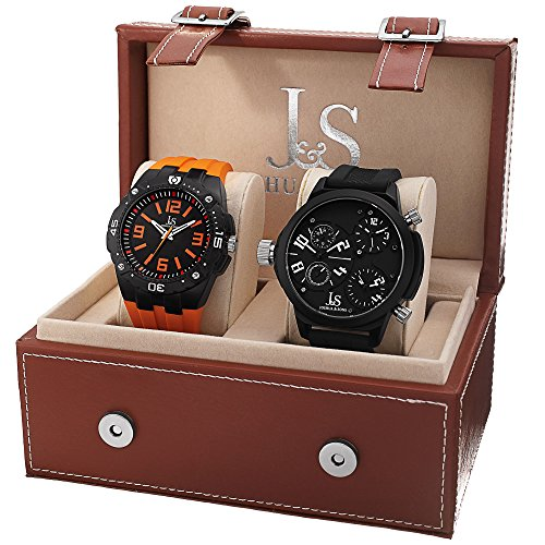 Joshua Sons Herren Armbanduhr JS 46 01 Analog Quarz