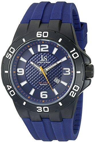 Joshua Sons Herren Schwarz ionenplattiertes Uhr mit