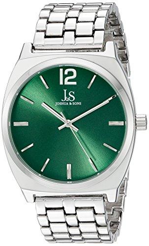 Joshua Sons Damen Rund Gruen Zifferblatt Drei Hand Quarz Armband Armbanduhr