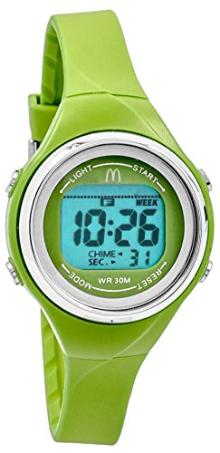 MCDONALD S Sportech Damen Lime Gruen Duenn Band Wasser bestaendig Schwimmen Sport Armbanduhr mdw10711